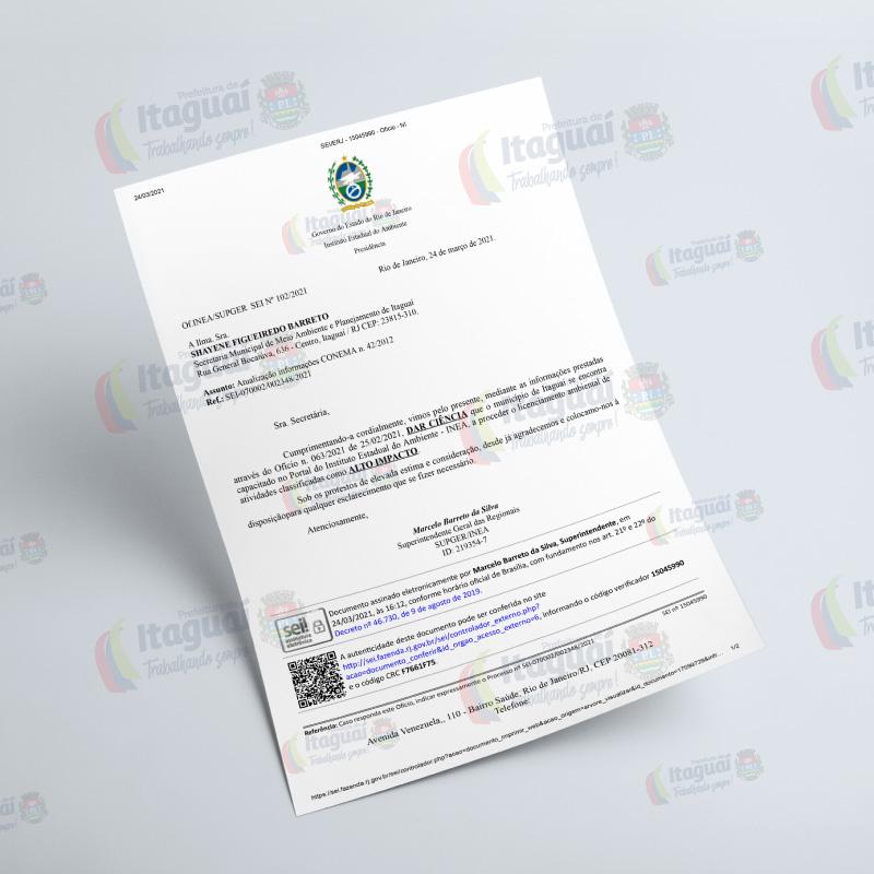 INEA habilita Prefeitura de Itaguaí para o licenciamento ambiental pleno