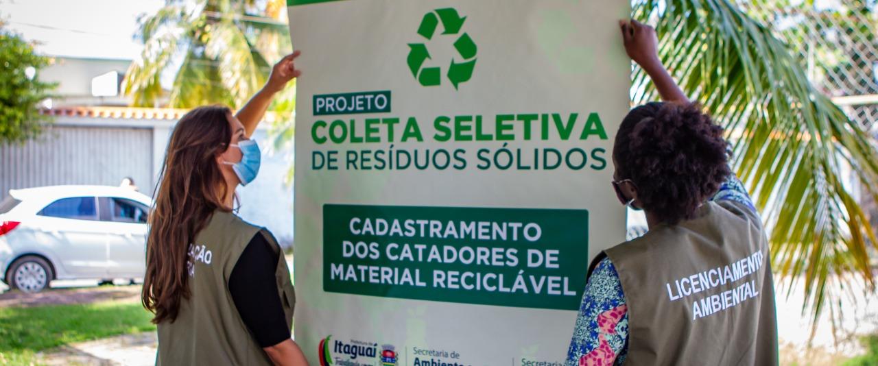 Prefeitura de Itaguaí dá continuidade às ações do Projeto Coleta de Resíduos